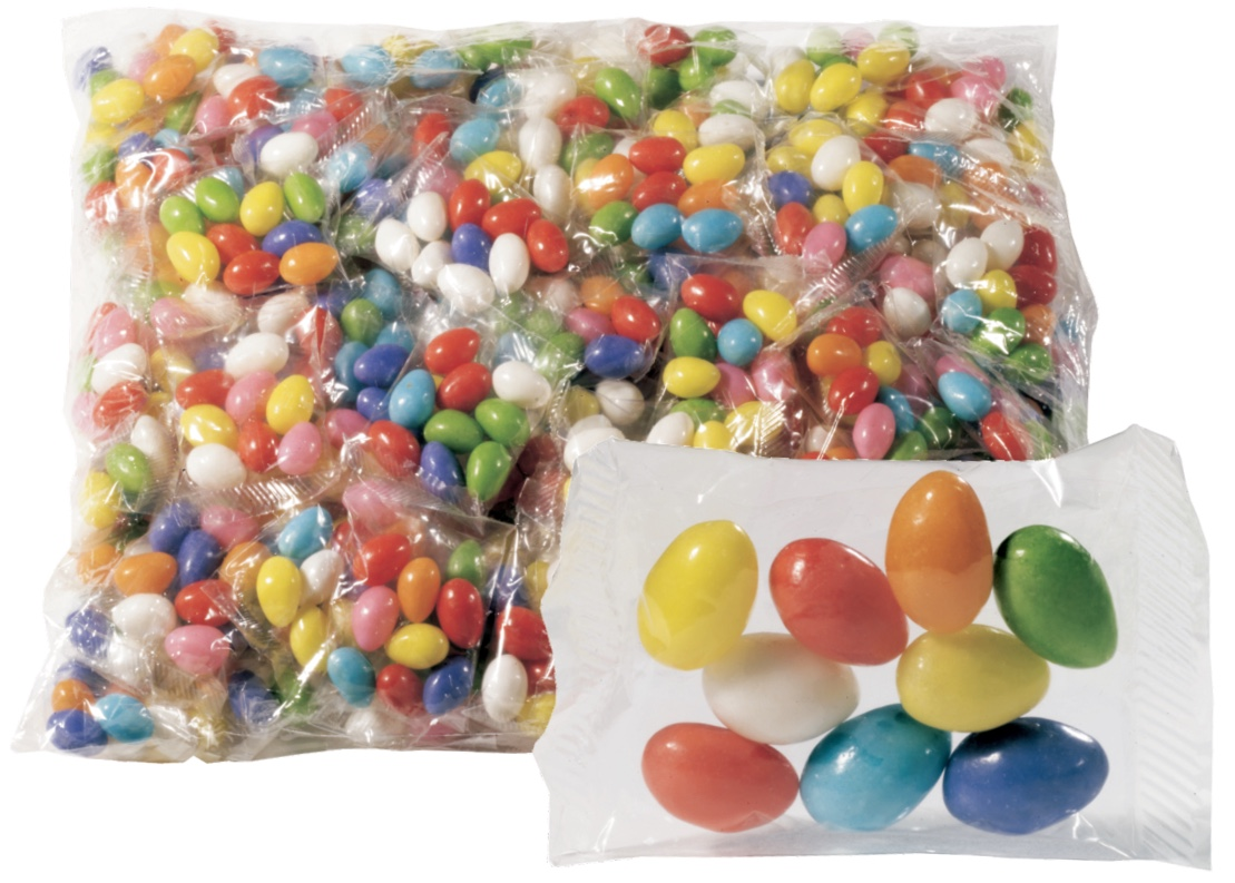 Easter Jelly Beans - Candy Filled Plastic Easter Eggs, Toy Filled